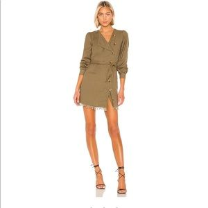 COPPER DRESS IN OLIVE GREEN